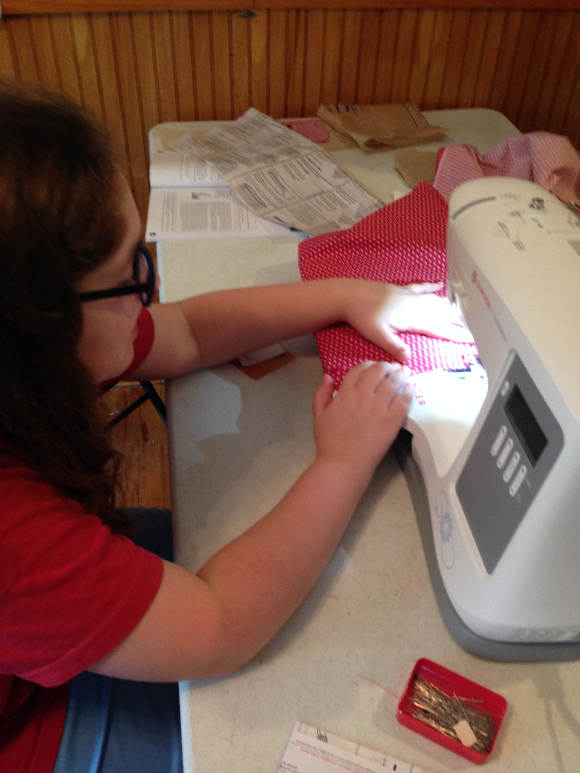 Mini Learns to Sew - Tina Bs World