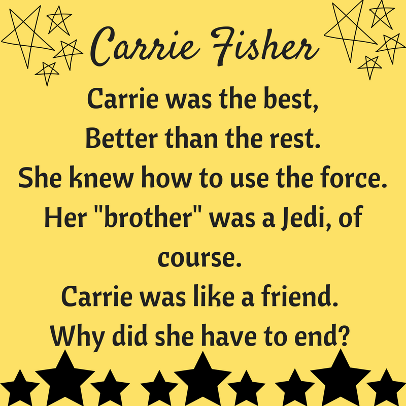 Tina B's World - Mini Monday Post 17 - Carrie Fisher Tribute
