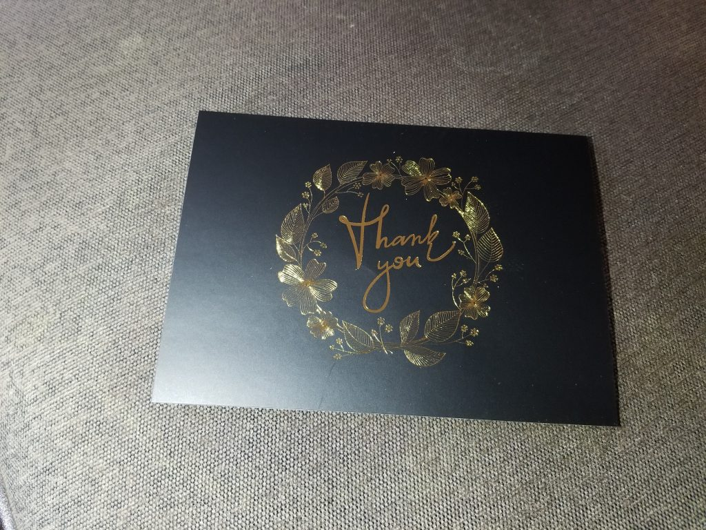Thank You Cards Review - Tina Bs World