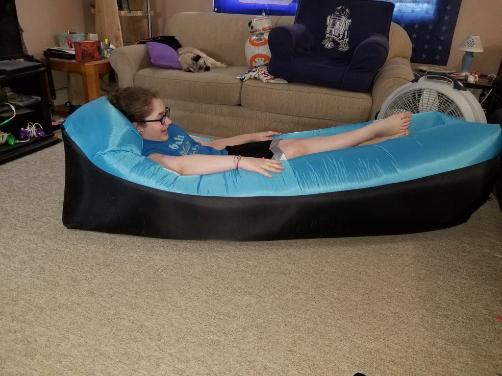 Lougnee Inflatable Lounger Review - Tina Bs World